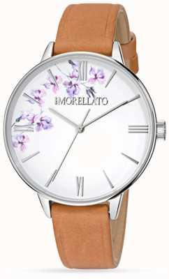 Morellato Reloj de cuero marrón ninfa para mujer R0151141507