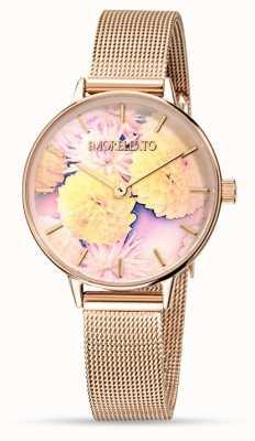 Morellato Reloj de malla de oro rosa ninfa para mujer R0153141502