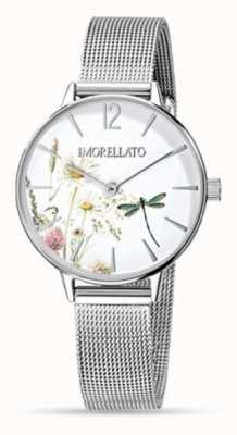 Morellato Reloj de malla de acero inoxidable ninfa para mujer R0153141507
