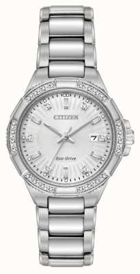 Citizen Conjunto de diamantes de acero inoxidable Riva eco-drive EW2460-56A