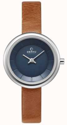 Obaku Mujer stille marrón reloj de cuero V146LXCLRZ