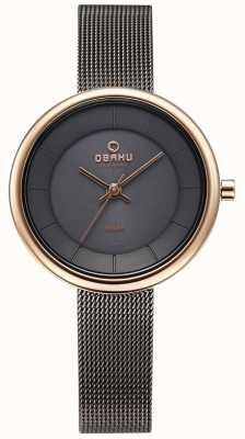 Obaku Reloj de la pulsera del acoplamiento del granito del lys de la mujer V206LRVJMJ