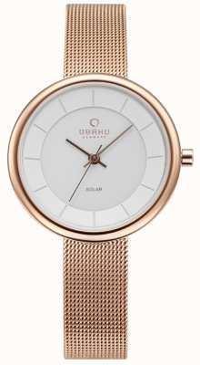 Obaku Reloj de pulsera de malla de oro rosa lys de Womans V206LRVWMV