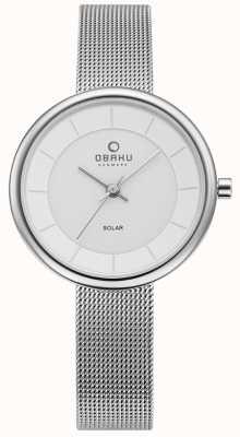 Obaku Reloj de la pulsera del acoplamiento del acero inoxidable de los lys de la mujer V206LRCWMC