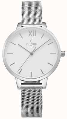 Obaku Reloj de malla de acero inoxidable V209LXCIMC