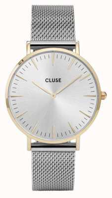 CLUSE La boheme caja de oro caja de plata / malla de malla de plata CL18115