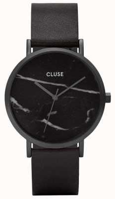 CLUSE La roche funda negra de mármol / correa negra CL40001