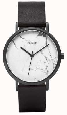 CLUSE La roche funda negra de mármol / correa negra CL40002