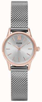 CLUSE La vendette rosa caja de oro plata dial / plata malla correa CL50024