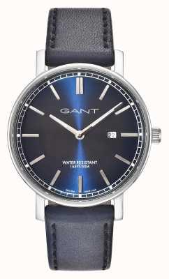 GANT Mens nashville correa de cuero azul esfera azul GT006002