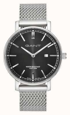 GANT Hombres nashville malla de acero inoxidable negro dial GT006008