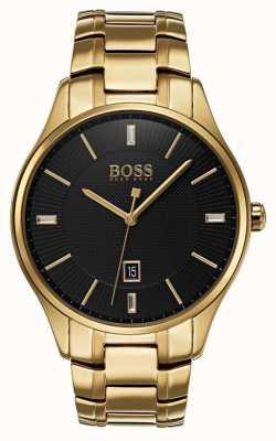 Hugo Boss Mens reloj de pulsera de oro gobernador 1513521