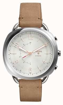Fossil Q cómplice híbrido smartwatch arena de cuero FTW1200