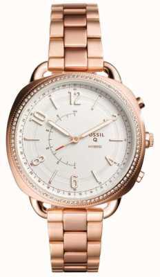 Fossil Q cómplice híbrido smartwatch rosa tono de oro FTW1208