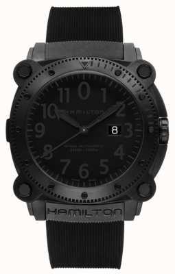 Hamilton Caqui navy belowzero 1000m auto negro de goma H78585333