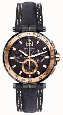 Michel Herbelin Hombres newport yacht club cronógrafo negro correa negro dial 36656/TR14