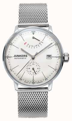 Junkers Mens acero bauhaus reloj de malla de acero 6060M-5