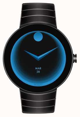 Movado Conecte el reloj negro con cubierta negra de Black Connect 3660015
