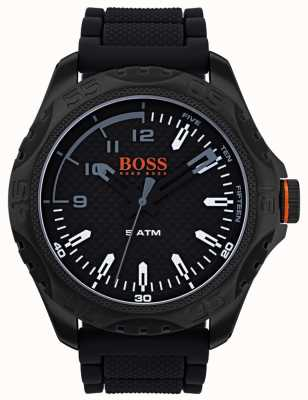Hugo Boss Orange Mens honolulu reloj de goma negro 1550032