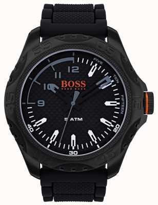 Hugo Boss Orange Mens honolulu reloj de goma negro 1550032