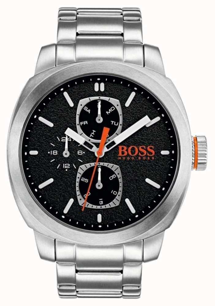 d3338bbf7064 Hugo Boss Orange Reloj De Hombre Capetown Reloj Negro De Acero ...
