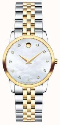 Movado Reloj de dos tonos del diamante del museo de Womans 0606900
