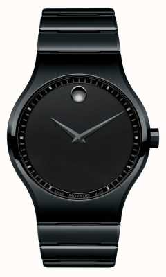 Movado Reloj de cuarzo negro de cerámica para hombre 0607047