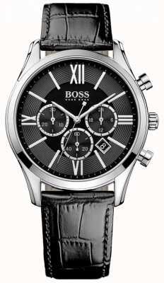 Hugo Boss Embajador cuero negro 1513194