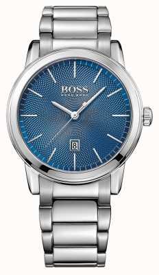 Hugo Boss Mens pulsera de acero inoxidable clásico azul 1513402