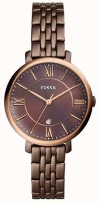 Fossil Reloj de acero inoxidable marrón Jacqueline Womans ES4275
