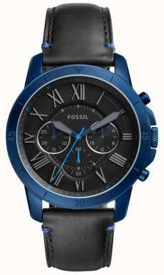 Fossil Mens conceder cronógrafo negro y azul FS5342