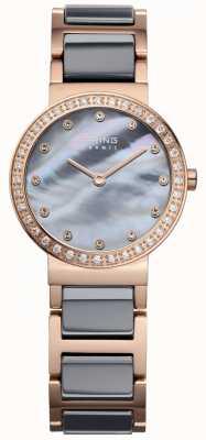 Bering Acero color de rosa de la alta tecnología de la alta tecnología de la mujer plateó el acero 10725-769
