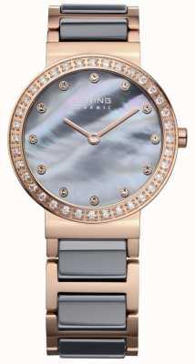 Bering Acero color de rosa de la alta tecnología de la alta tecnología de la mujer plateó el acero 10729-769