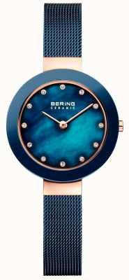 Bering Correa azul milanesa de cerámica de Womans 11429-367