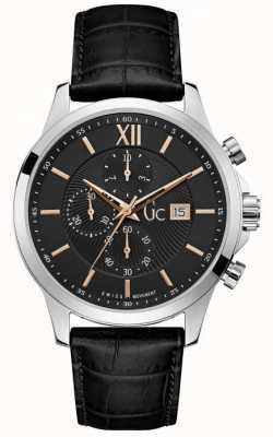 Gc Reloj cronógrafo negro clásico ejecutivo para hombre Y27001G2