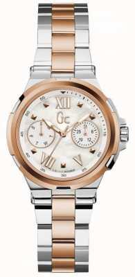 Gc Reloj de dos tonos de la fecha del día de la estructura de Womans Y29002L1