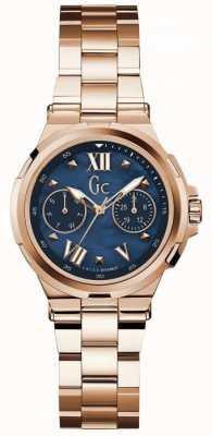 Gc Reloj de oro rosa de la fecha del día de la estructura de Womans Y29003L7