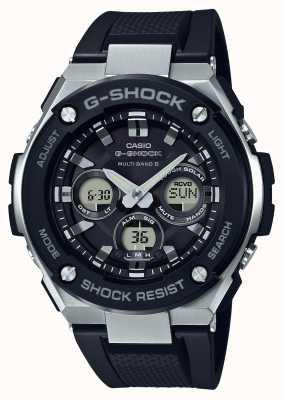 Casio g-shock g de acero mediano de alarma crono negro GST-W300-1AER