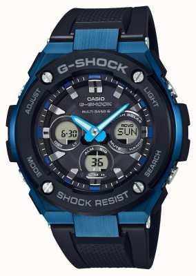 Casio Mens g-shock g-acero duro reloj solar azul GST-W300G-1A2ER
