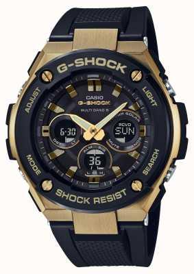 Casio Mens g-shock g-acero resistente de oro reloj solar GST-W300G-1A9ER