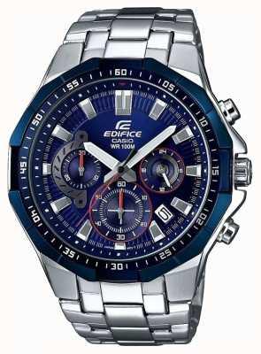 Casio Reloj cronógrafo azul para hombre EFR-554RR-2AVUEF