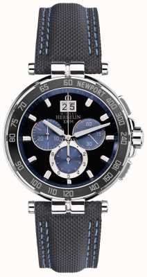 Michel Herbelin Mens club de yates de newport, negro, azul 36656/AN65