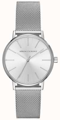 Armani Exchange Pulsera de malla de acero inoxidable Womans AX5535