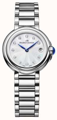 Maurice Lacroix Reloj de pulsera de diamantes femenino fiaba 28 mm FA1003-SS002-170-1