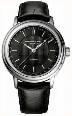 Raymond Weil Mens maestro automatico cuero negro 2851-STC-20001