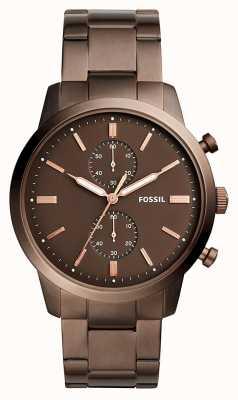 Fossil Hombre ciudadano cronógrafo marrón FS5347