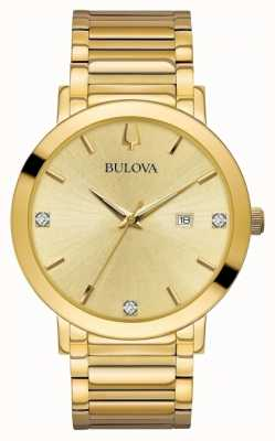 Bulova Reloj de oro para hombre engastado de diamantes 97D115
