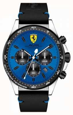 Scuderia Ferrari Reloj azul cronógrafo con pilota para hombre 0830388
