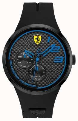 Scuderia Ferrari Silicona negra para hombre 0830395
