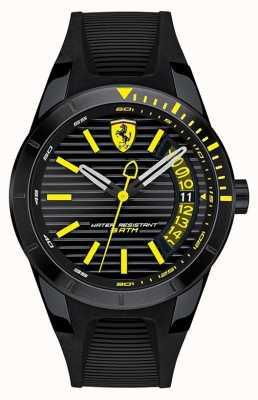 Scuderia Ferrari Reloj de pulsera de silicona negra redrev de hombre 0830426